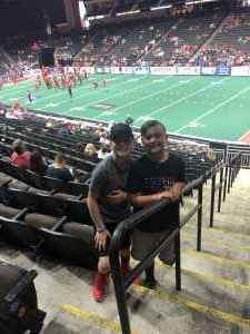 Brandon attended Jacksonville Sharks vs. New York Streets - NAL - Home Opener on Apr 13th 2019 via VetTix