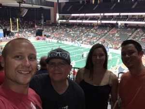 Ryan attended Jacksonville Sharks vs. New York Streets - NAL - Home Opener on Apr 13th 2019 via VetTix