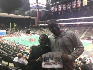 Shelley attended Jacksonville Sharks vs. New York Streets - NAL - Home Opener on Apr 13th 2019 via VetTix