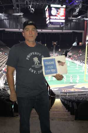 Patrick attended Jacksonville Sharks vs. New York Streets - NAL - Home Opener on Apr 13th 2019 via VetTix