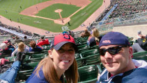 Ryan and Amy attended Detroit Tigers vs. Cleveland Indians - MLB on Apr 9th 2019 via VetTix