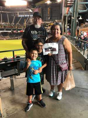 Louis attended Arizona Diamondbacks vs. Pittsburgh Pirates - MLB on May 15th 2019 via VetTix