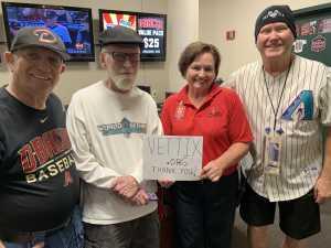 Ron Skon - Mesa, AZ attended Arizona Diamondbacks vs. Pittsburgh Pirates - MLB on May 15th 2019 via VetTix