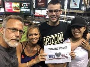 Joseph attended Arizona Diamondbacks vs. Pittsburgh Pirates - MLB on May 15th 2019 via VetTix