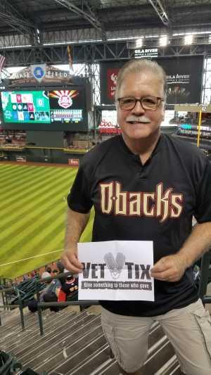 Greg attended Arizona Diamondbacks vs. Pittsburgh Pirates - MLB on May 15th 2019 via VetTix