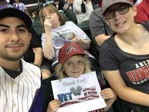 Oscar attended Arizona Diamondbacks vs. New York Yankees - MLB on May 1st 2019 via VetTix