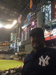 Jimmy Mc  attended Arizona Diamondbacks vs. New York Yankees - MLB on May 1st 2019 via VetTix
