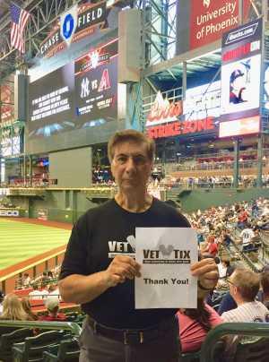 Salvatore attended Arizona Diamondbacks vs. New York Yankees - MLB on May 1st 2019 via VetTix