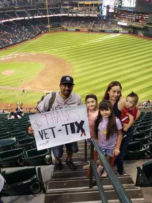 Christopher attended Arizona Diamondbacks vs. New York Yankees - MLB on May 1st 2019 via VetTix
