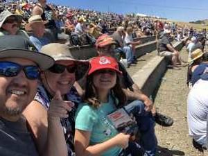 Thomas attended Toyota Save Mart 350 - KB100 - Kurt Busch Fan Appreciation Tickets on Jun 23rd 2019 via VetTix