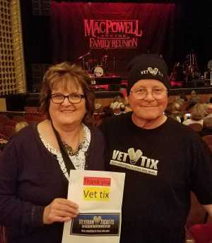 Chris attended Mac Powell & The Family Reunion on Apr 16th 2019 via VetTix