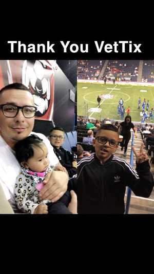 Diego Mendez ABF USN attended Ontario Fury vs Monterrey Mexico - MALS on Apr 14th 2019 via VetTix