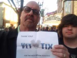 David attended Nick Mason's Saucerful of Secrets - Pop on Apr 3rd 2019 via VetTix
