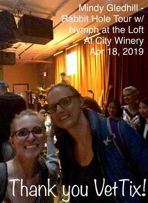 LANOLA attended Mindy Gledhill - Rabbit Hole Tour With Nymph at the Loft on Apr 18th 2019 via VetTix