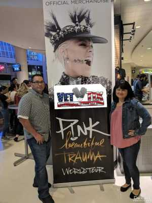 Miguel attended P! Nk - Beautiful Trauma World Tour With Julia Michaels on Apr 15th 2019 via VetTix