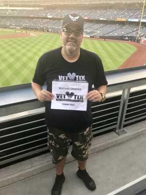 EDWIN attended New York Yankees vs. Texas Rangers - MLB on Sep 4th 2019 via VetTix