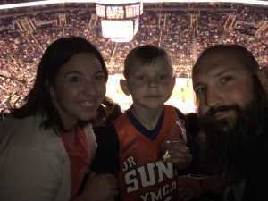 Jeremy E. attended Phoenix Suns vs. New Orleans Pelicans - NBA on Apr 5th 2019 via VetTix