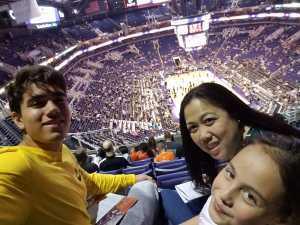 Teresa attended Phoenix Suns vs. New Orleans Pelicans - NBA on Apr 5th 2019 via VetTix