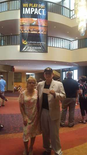 Robert Navarro SPC4 attended The Phoenix Symphony - Romeo and Juliet and Porgy and Bess - Matinee on Apr 20th 2019 via VetTix