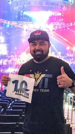 Christopher attended Top Rank Presents: Lomachenko vs. Crolla on Apr 12th 2019 via VetTix