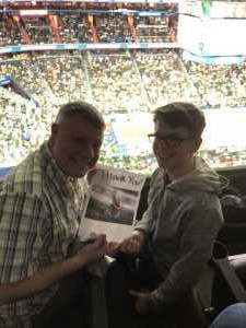 Brian and Tabatha attended Washington Wizards vs. Boston Celtics - NBA on Apr 9th 2019 via VetTix