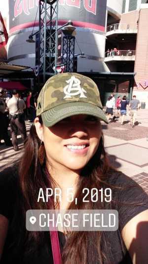 Donna attended Arizona Diamondbacks vs. Boston Red Sox - MLB on Apr 5th 2019 via VetTix