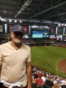 Arthur attended Arizona Diamondbacks vs. Boston Red Sox - MLB on Apr 5th 2019 via VetTix