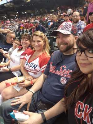 Carlos attended Arizona Diamondbacks vs. Boston Red Sox - MLB on Apr 5th 2019 via VetTix
