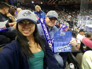 Justin attended Jacksonville Icemen vs. Florida Everblades - ECHL - 2019 Kelly Cup Playoffs - Game 3 on Apr 18th 2019 via VetTix