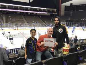 Esco Family attended Jacksonville Icemen vs. TBD - ECHL - 2019 Kelly Cup Playoffs - Game 4 on Apr 19th 2019 via VetTix