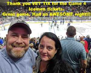 Russell attended Jacksonville Icemen vs. TBD - ECHL - 2019 Kelly Cup Playoffs - Game 4 on Apr 19th 2019 via VetTix