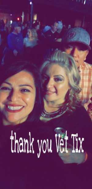 Guadalupe attended Brett Eldredge on Apr 13th 2019 via VetTix