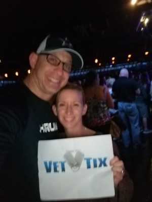 Mindy attended Brett Eldredge on Apr 13th 2019 via VetTix