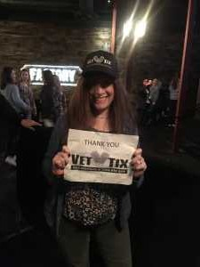 Linda attended Brett Eldredge on Apr 13th 2019 via VetTix