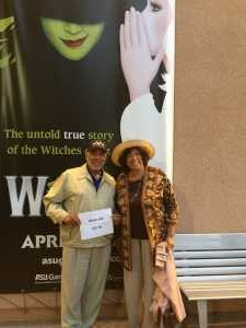 James C attended Wicked - 5th Annual Operation Date Night - Includes Gift Card for Dinner Before the Show on Apr 10th 2019 via VetTix