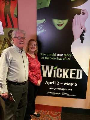Al Blair attended Wicked - 5th Annual Operation Date Night - Includes Gift Card for Dinner Before the Show on Apr 10th 2019 via VetTix