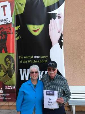 Larry attended Wicked - 5th Annual Operation Date Night - Includes Gift Card for Dinner Before the Show on Apr 10th 2019 via VetTix