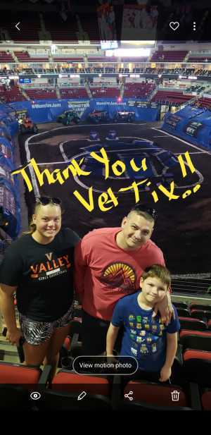 Lloyd attended Monster Jam on Apr 19th 2019 via VetTix