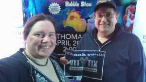 James attended B - the Underwater Bubble Show - Miscellaneous Theatre on Apr 28th 2019 via VetTix