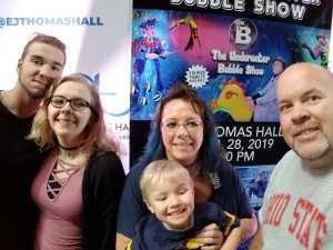 bryan attended B - the Underwater Bubble Show - Miscellaneous Theatre on Apr 28th 2019 via VetTix