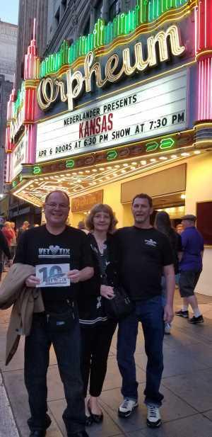 Norman attended Nederlander Presents: Kansas on Apr 6th 2019 via VetTix