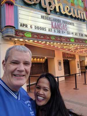 Jeffrey attended Nederlander Presents: Kansas on Apr 6th 2019 via VetTix