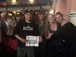 John  attended Arlington Theatre Presents: Kansas on Apr 7th 2019 via VetTix