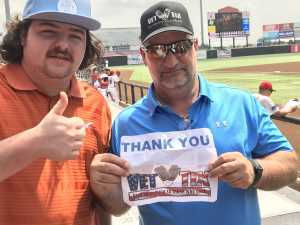 James attended Texas Airhogs vs. Sioux Falls Canaries - American Association of Independent Professional Baseball on May 22nd 2019 via VetTix