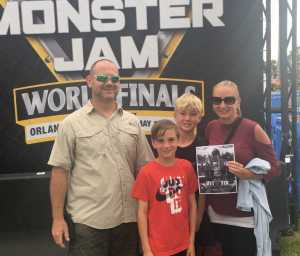 Jodie attended Monster Jam World Finals - Motorsports/racing on May 11th 2019 via VetTix