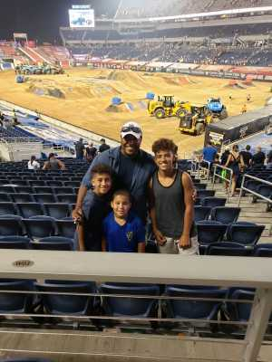 First Sergeant Lowery USMC; (Retired) attended Monster Jam World Finals - Motorsports/racing on May 11th 2019 via VetTix