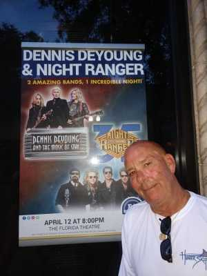 Frankie attended Dennis DeYoung - The Music of Styx and Night Ranger on Apr 12th 2019 via VetTix