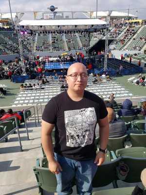 Martin attended Premier Boxing Champions Presents Danny Garcia vs. Adrian Granados on Apr 20th 2019 via VetTix