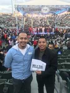 Alejandro attended Premier Boxing Champions Presents Danny Garcia vs. Adrian Granados on Apr 20th 2019 via VetTix