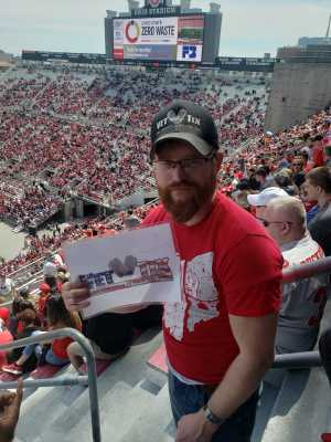 Justin attended Ohio State Life Sports Spring Game - NCAA Football on Apr 13th 2019 via VetTix